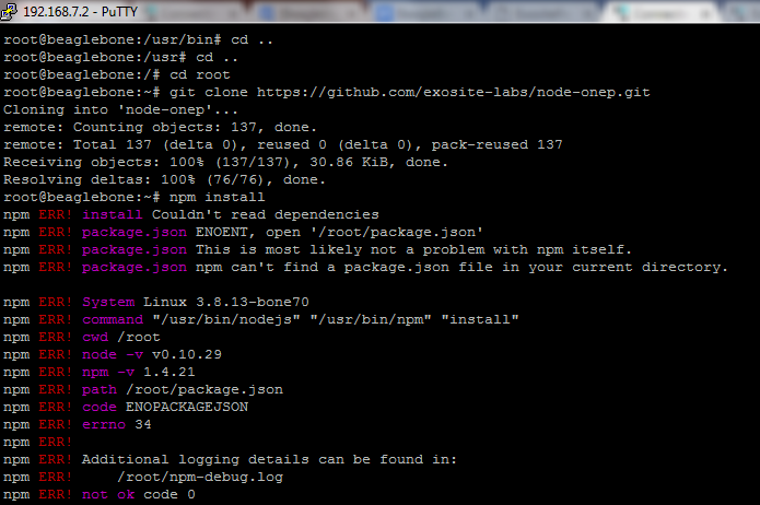 Connecting a Device Running on Embedded Linux to Exosite using Node